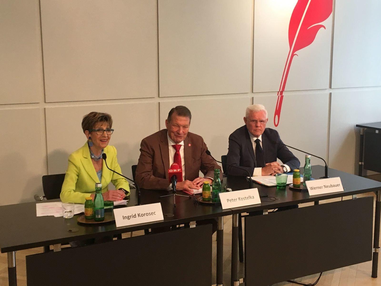 19.09.12 Rapp. pensionati. Ingrid Korosec (Övp), Peter Kostelka (Spo), Werner Neubauer (Fpo)