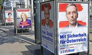 19.09.16 Vienna, ring Burgtheater, manifesti elettorali