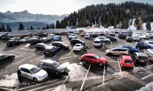 20.02.07 Dobratsch, parcheggio al termine strada a pedaggio