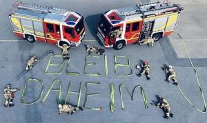 20.03.23 Vigili del fuoco Graz, 'rimani a casa'