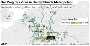 20.04.04 Diffusione virus da Ischgl (infografica Die Welt)