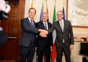 20.04.16 Gect Massimiliano Fedriga, Peter Kaiser, Federico Caner