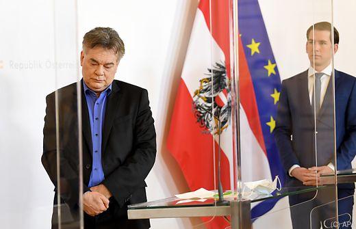 20.04.21 Werner Kogler, Sebastian Kurz (indennità in beneficenza)