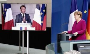 20.05.21 Emmanuel Macro e Angela Merkel (piano finanziamenti europei)