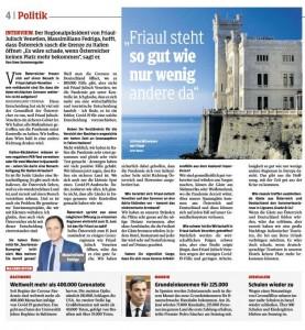 20.06.08 Kleine Zeitung, intervista Fedriga
