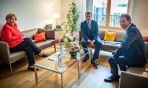 20.07.19 Angela Merkel, Emmanuel Macron, Sebastian Kura (Bruxelles)