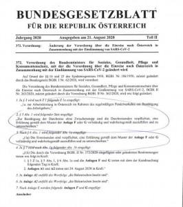 20.08.25 Ordinanza Anschober, controlli sanitari ai confini
