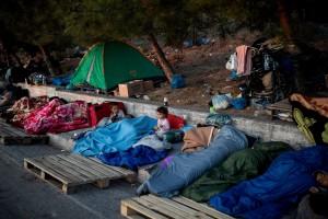 20.09.15 Campo profughi Moria, Lesbo