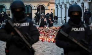 20.11.12 Vienna, lumini luogo attentato islamico