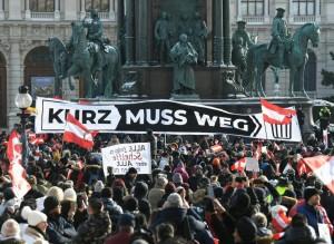 21.01.17 Protesta anticovid, Vienna, piazza Maria Teresa