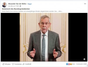 21.01.29 Videomessaggio di Van der Bellen su caso Tina