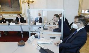 21.03.16 Vertice Covid; Rudolf Anschober e Sebastian Kurz
