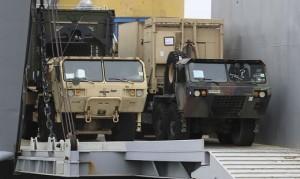21.05.12 Mezzi Nato in viaggio verso Ungheria e Slovenia
