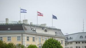 21.05.15 Bandiera di Israele su Ballhausplatz, Vienna