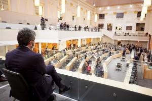 Besuch des Präsidenten der Italienischen Abgeordnetenkammer Roberto Fico