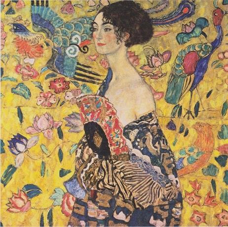 21.05.28 Gustav_Klimt_-_Dame_mit_Fächer (Signora col ventaglio) - Copia