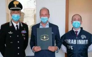 21.08.02 Magg. Lorenzo Pella, Wolfgang Marchardt, carabiniere