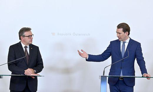 21.08.05 Günther Platter e Sebastian Kurz