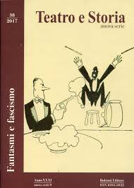 """La copertina  di """"Teatro e Storia"""""""