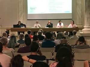 I relatori del convengo alla Biennale Teatro