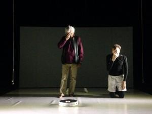 Eugenio Barba e Lorenzo Gleijeses durante una prova