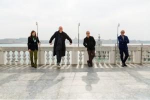 I nuovi direttori delle sezioni di Spettacolo  Biennale di Venezia: da sinistra, Lucia Ronchetti, Wayne McGregor Gianni Forte, Stefano Ricci