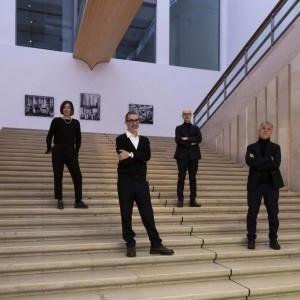 Romeo Castellucci (a sinistra, in primo piano) con Stefano Boeri, Lorenza Baroncelli e Umberto Angelini