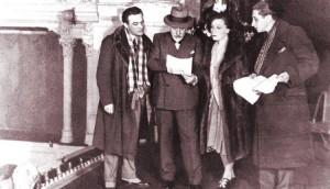 """Pirandello con gli attori dei """"Sei personaggi in cerca d'autore"""""""