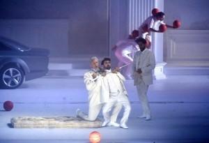 """Una scena di """"Don Giovanni"""" che si è visto al Festival di Salisburgo"""