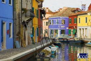 (Venezia) Burano, Fondamenta Terranova - Unesco
