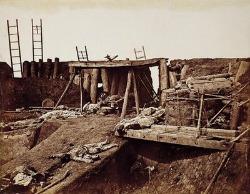 Felice Beato, Interno del Forte Nord subito dopo la cattura, India 1860