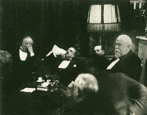 Erich Salomon, Ministri francesi e tedeschi alla seconda Conferenza dell'Aja, alle due di notte, 1930