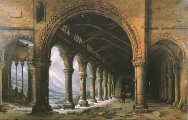 Uno dei dipinti illusionistici di Daguerre per il suo Diorama