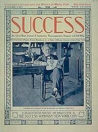 Thomas Edison sulla copertina di Success, Febbraio 1898, dalla mostra Fame After Photography, MoMa