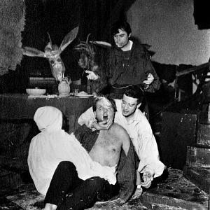 Clausio Abate, foto di scena da Cristo 63 di Carmelo Bene, Teatro Laboratorio, Roma 4 gennaio 1963, Claudio Abate, g.c.