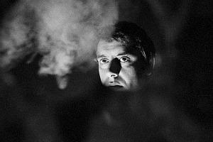 """Claudio Abate, foto di scena da """"Faust o Margherita"""" di Carmelo Bene, Teatro dei Satiri, Roma  dal 3 al 30 gennaio 1966, Claudio Abate, g.c."""