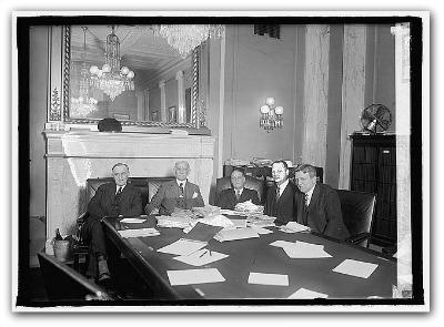 La Commissione Copyrighe e Brevetti del Senato Usa, 1924. Library of Congress Prints and Photographs Division Washington, D.C.