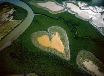 Cuore di Voh nel 1990, Nuova Caledonia, Francia © Yann Arthus-Bertrand, g.c.
