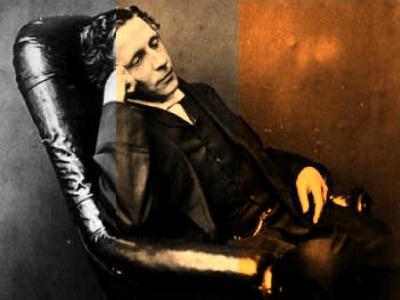 Lewis Carroll in tre saturazioni diverse