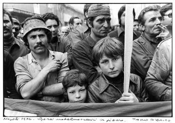 Tano D'Amico, Napoli 1974, operai metalmeccanici in piazza. Tano D'AMico, g.c.