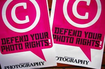 Poster dela campagna del Bjp in difesa dei diritti dei fotografi