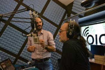 """Daniele Ferrini e Sandro Iovine discutono l'interpretazione di """"The Americans"""". Foto di Sonia Orsucci, g.c."""