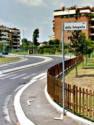 Via della Fotografia, Roma. Screenshot da Google Street View