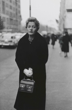 10. Woman with white gloves and a pocket book, N.Y.C. 1956RED2