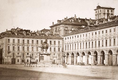 Giuseppe Venanzio Sella, Piazza San Carlo a Torino, 1853, carta salata