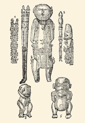 414px-Wooden_idols_of_Polynesia_(1830)