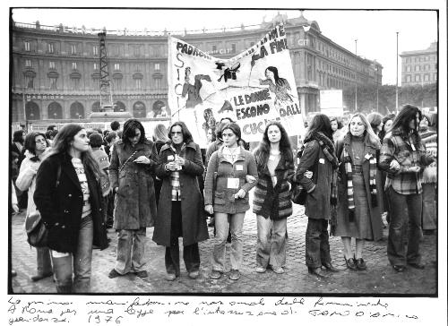 6. La prima manifestazione femminine 1976