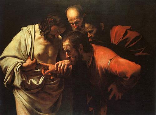 Caravaggio: L'incredulità si san Tommaso, 1601-1602
