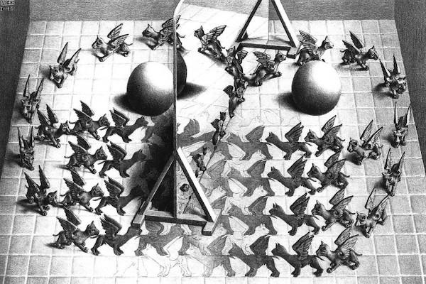 Maurits-Cornelis-Escher-Specchio-magico-1946-litografia-279-x-445-mm-M.C.-Escher-Foundation-670x400