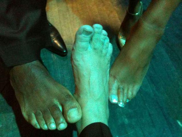 Carl Lewis Troll Foot (il nickname di Danny per il suo piede N.d.R.) e Viveca Fox al New Jersey Hall of Fame